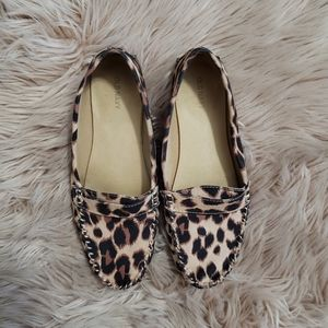 Old Navy leopard print loafers. Size 10